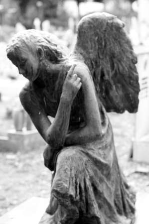 angel statue at the monumental cemetery of Staglieno in Genoa Italy
