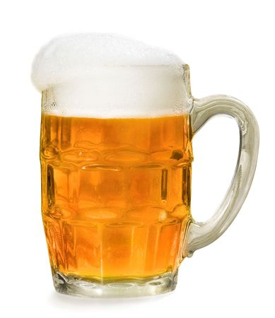 beer mug isolated on white photo