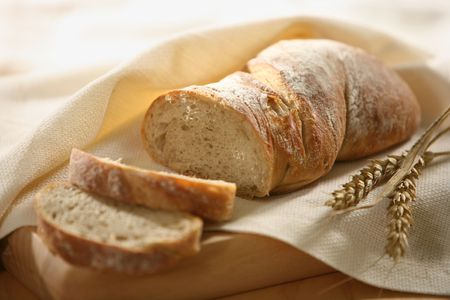 bread slice: fresh sliced bread Stock Photo