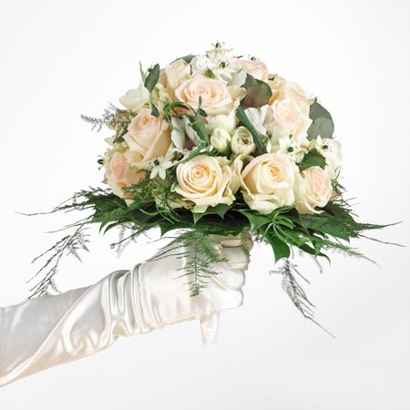 commits: wedding bouquet Stock Photo