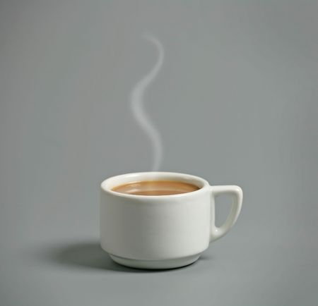 steaming: elegant coffee cup
