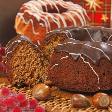 cioccolato natale: chocolate cake