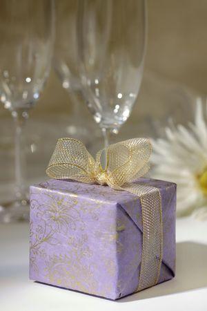 box size: gift box Stock Photo