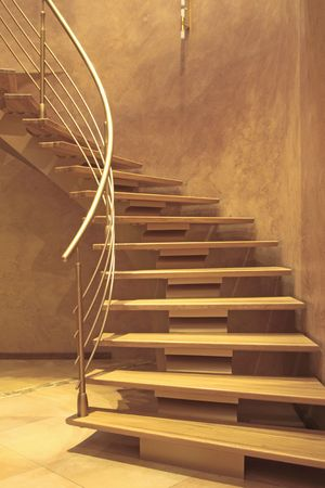stairway in luxury home photo