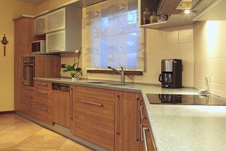 kitchenette: interior of modern kitchen