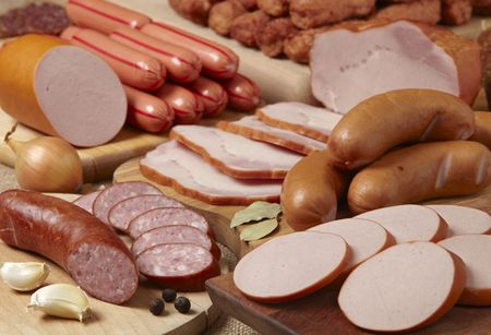 smoked sausage: meat and sausages