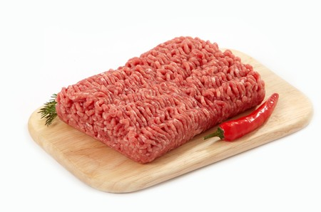 minced beef: fresh minced meat