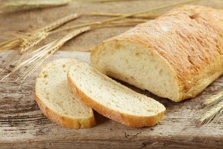 partially: bread
