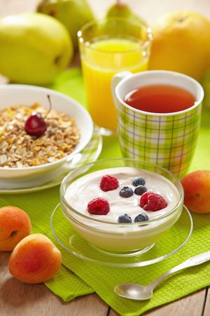 and vitamin: healthy breakfast Stock Photo