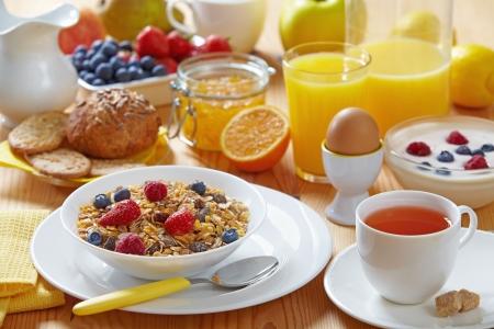 petit déjeuner: déjeuner sain