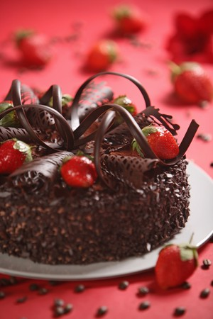 an icing: chocolate cake