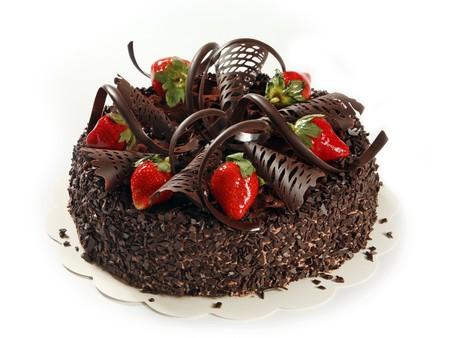 gateau anniversaire: gâteau au chocolat  Banque d'images