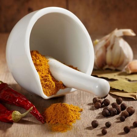 curry: variedad de especias