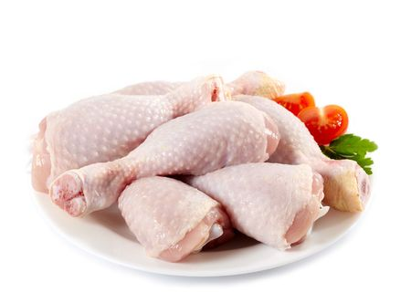 animal leg: raw chicken meat