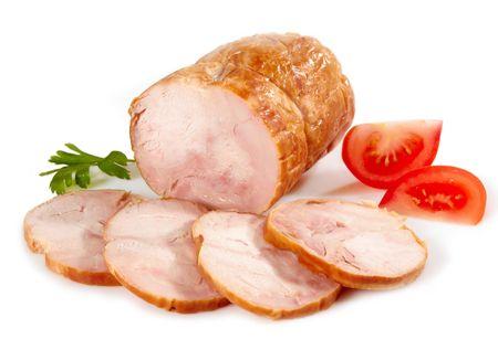 chicken meat sausage photo