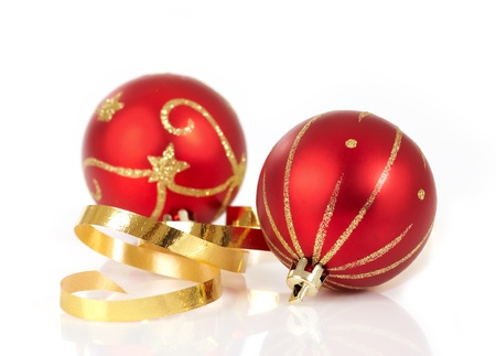 red christmas baubles Stock Photo - 8344206