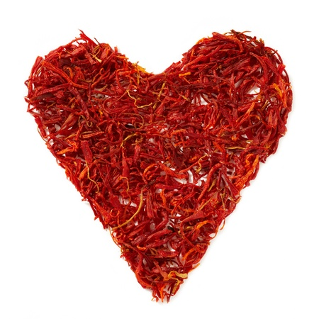 saffron: saffron heart Stock Photo