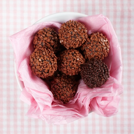 chocolate truffles   photo