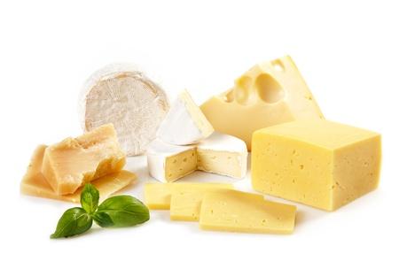 lacteos: varios tipos de queso Foto de archivo