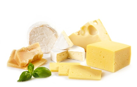 milk cheese: various types of cheese