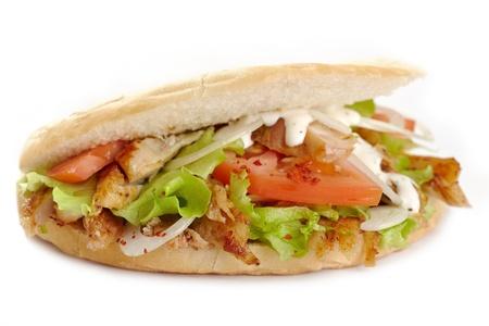 pinchos morunos: s�ndwich de kebab