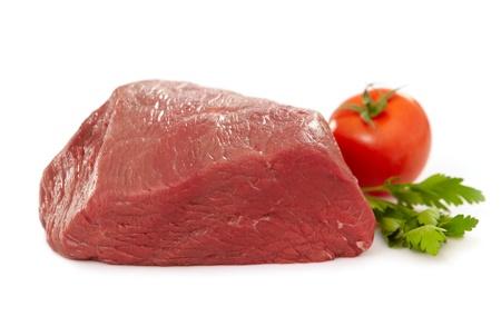 carne de res: carne cruda