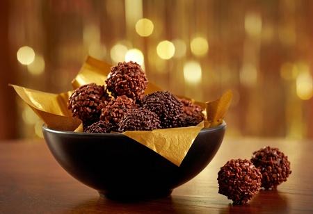 trufas de chocolate: trufas de chocolate Foto de archivo