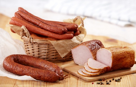meat and sausages photo
