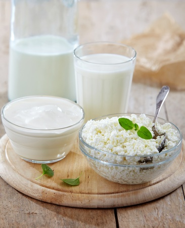 milk products: fresh milk products