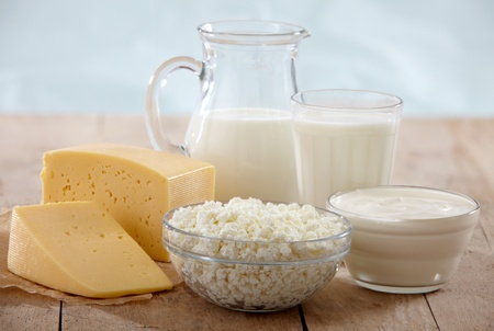 fresh dairy products photo