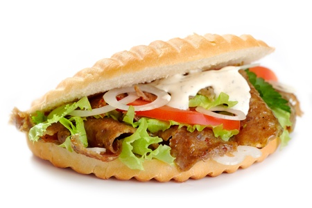 turkish kebab: kebab sandwich