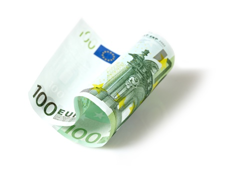 one hundred euro banknote: one hundred euro banknote