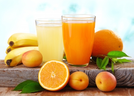 orange juice glass: fresh juice