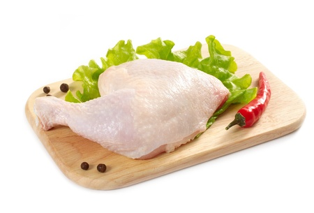 raw chicken leg Stock Photo - 9943660
