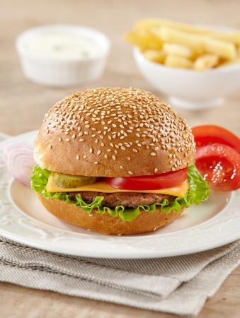 fastfood: cheeseburger
