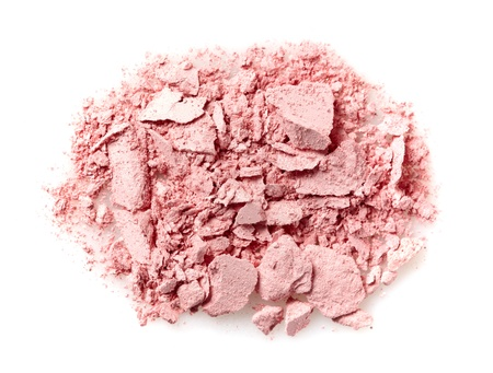 compact: pink powder Stock Photo