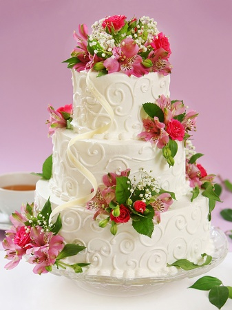 wedding cake: beautiful cake Stock Photo