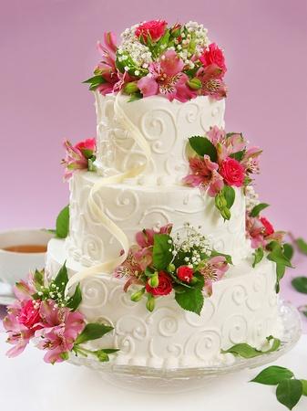 compleanno: bella torta Archivio Fotografico