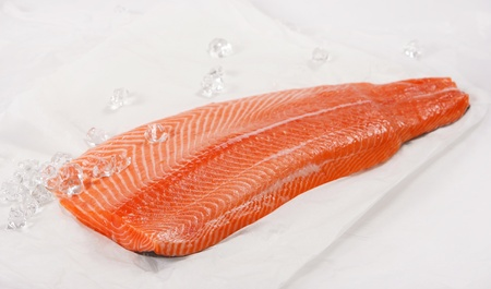 fresh raw salmon fillet photo