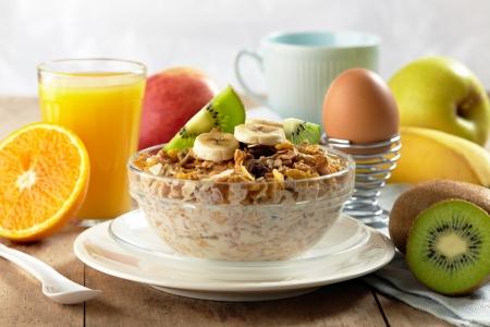 petit déjeuner: petit déjeuner sain Banque d'images