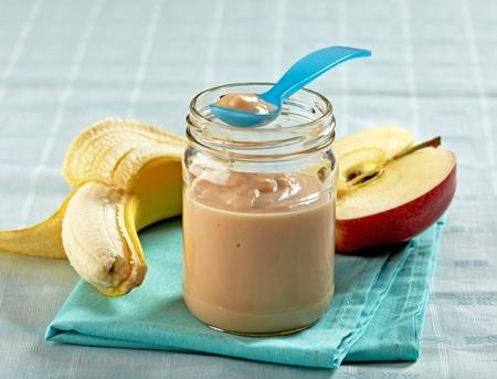 apple and banana puree photo