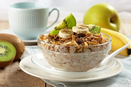 bowl of cereal: healthy breakfast Stock Photo