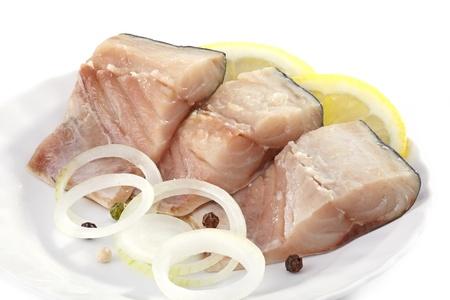 mackerel pieces photo
