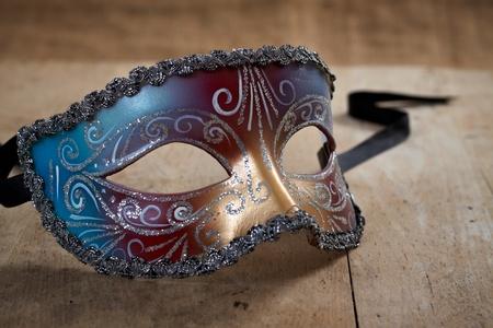 painted face mask: venetian carnival mask