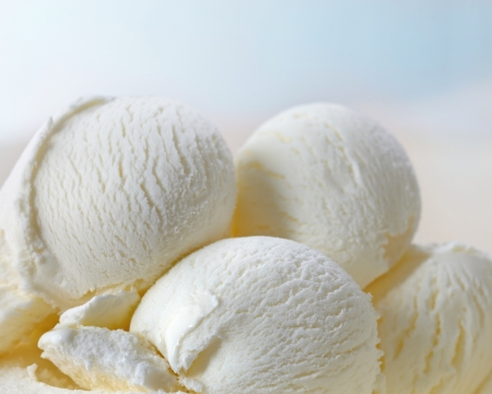 vanilla ice cream: Ice cream Stock Photo