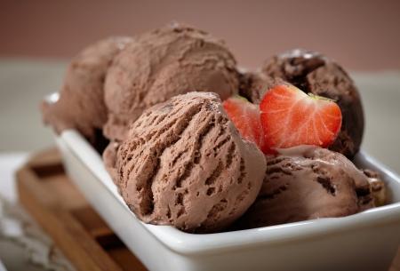 ice cream chocolate: chocolate ice cream