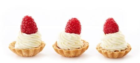 mascarpone: mascarpone cupcakes with raspberries