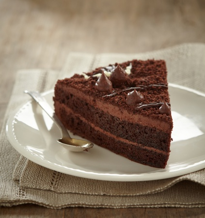 chocolate cake slice photo