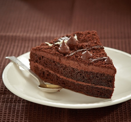 chocolate slice: chocolate cake slice Stock Photo