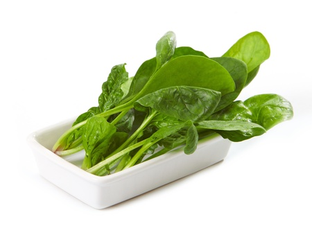 baby spinach: spinach leaves Stock Photo